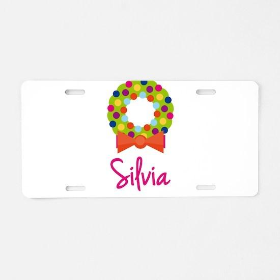 Christmas Wreath Silvia Aluminum License Plate