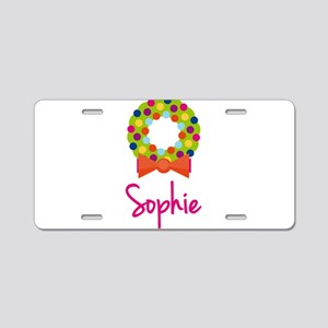 Christmas Wreath Sophie Aluminum License Plate