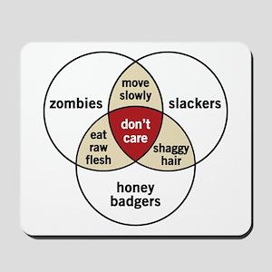 Zombies Honey Badgers Slacker Mousepad