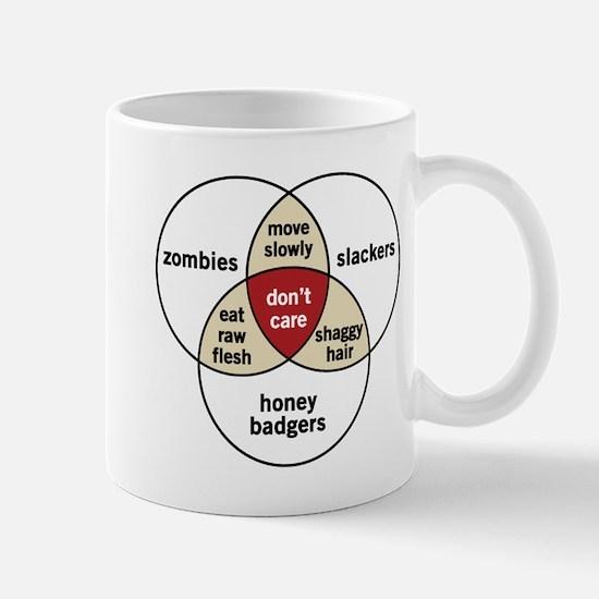 Zombies Honey Badgers Slacker Mug