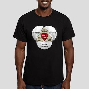Zombies Honey Badgers Slacker Men's Fitted T-Shirt