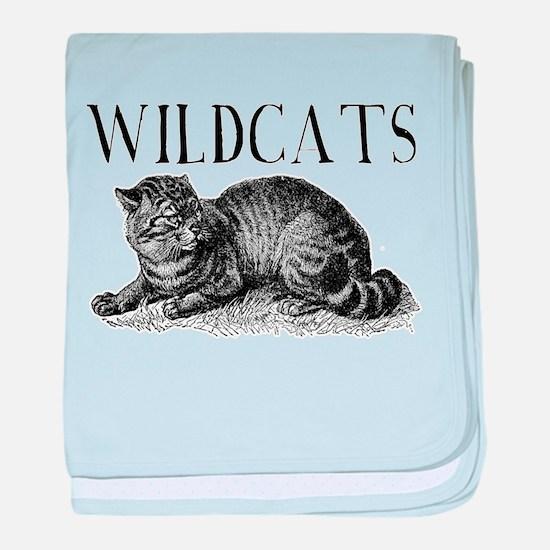 Classic Wildcats baby blanket