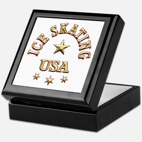 Ice Skating USA Keepsake Box