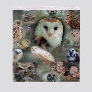 Happy Owls Throw Blanket