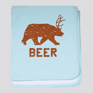 Bear + Deer = Beer baby blanket