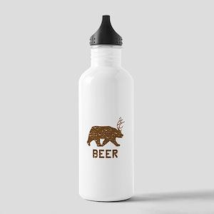 Bear + Deer = Beer Stainless Water Bottle 1.0L