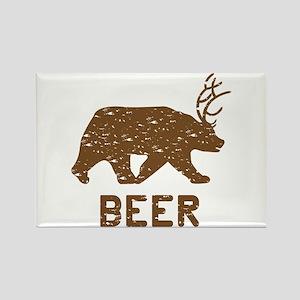 Bear + Deer = Beer Rectangle Magnet