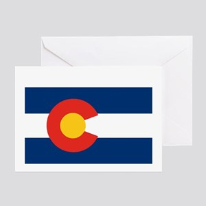 Colorado State Flag Greeting Cards (6)