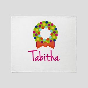 Christmas Wreath Tabitha Throw Blanket