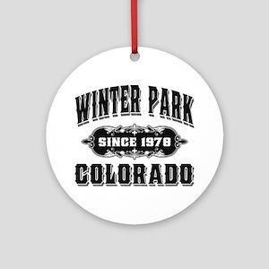 Winter Park Since 1978 Black Ornament (Round)