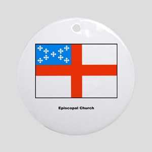 Episcopal Church Flag Ornament (Round)