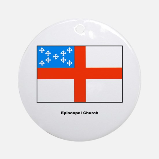 Episcopal Church Flag Ornament (Round)