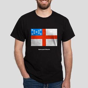 Episcopal Church Flag (Front) Black T-Shirt
