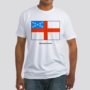 Episcopal Church Flag (Front) Fitted T-Shirt