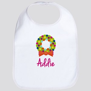 Christmas Wreath Addie Bib