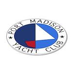 PMYC Logo 38.5 x 24.5 Oval Wall Peel