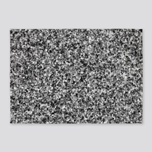 Gray Camouflage 5'x7'Area Rug