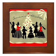 Deco Christmas #1 Framed Tile