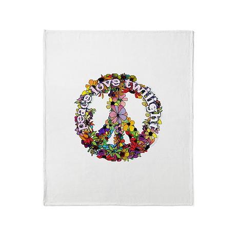 Peace Love Twilight by Twibaby Throw Blanket