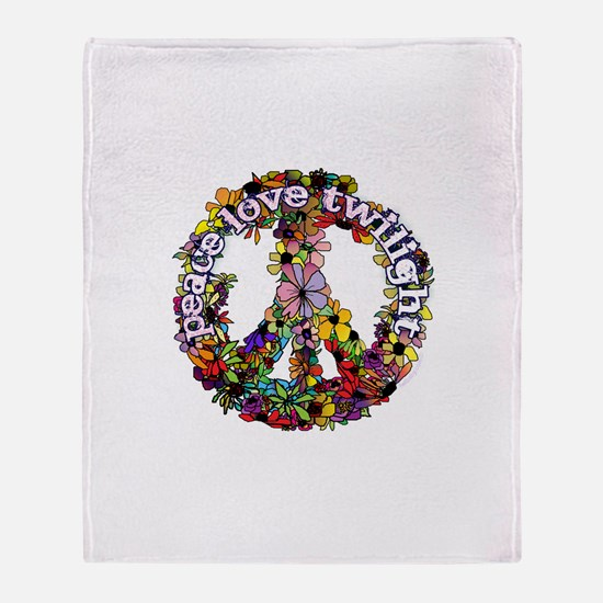 Peace Love Twilight by Twibaby Throw Blanket