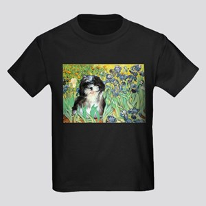 Irises / Shih Tzu #12 Kids Dark T-Shirt