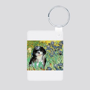 Irises / Shih Tzu #12 Aluminum Photo Keychain