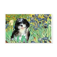 Irises / Shih Tzu #12 Wall Decal
