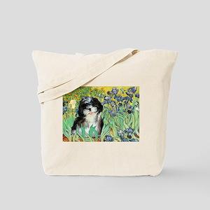 Irises / Shih Tzu #12 Tote Bag