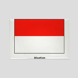 Alsatian Alsace France Flag Rectangle Magnet