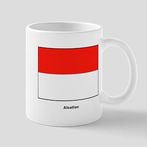 Alsatian Alsace France Flag Mug
