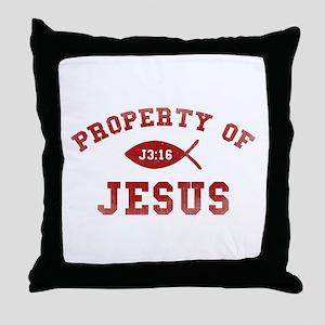 Property of Jesus Throw Pillow