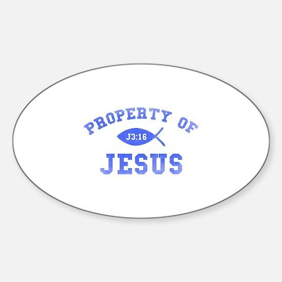 Property of Jesus Sticker (Oval)