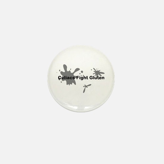 Celiacs Fight Gluten Mini Button