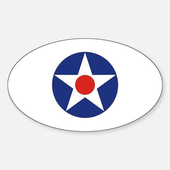 U.S. Star Sticker (Oval)