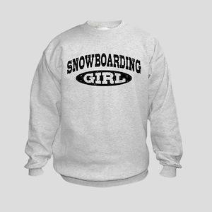 Snowboarding Girl Kids Sweatshirt