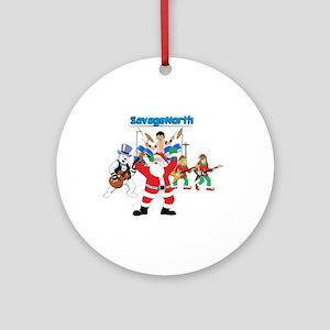 Heavy Metal Christmas Ornament (Round)