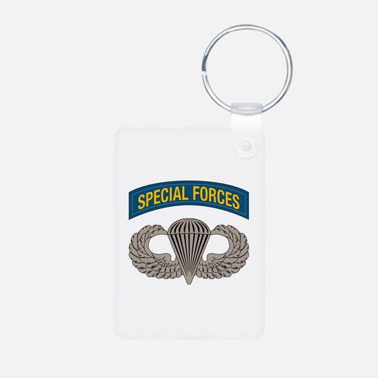 Airborne Special Forces Aluminum Photo Keychain