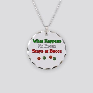 What happens at bocce stays at bocce. Necklace Cir