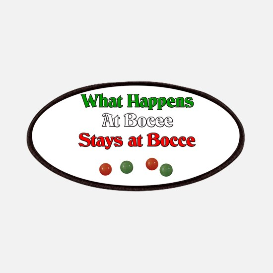 What happens at bocce stays at bocce. Patches