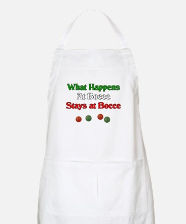 What happens at bocce stays at bocce. Apron