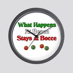 What happens at bocce stays at bocce. Wall Clock