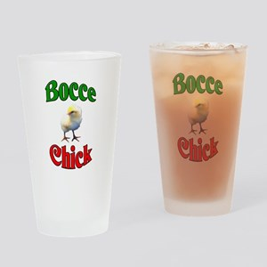 Bocce Chick Drinking Glass