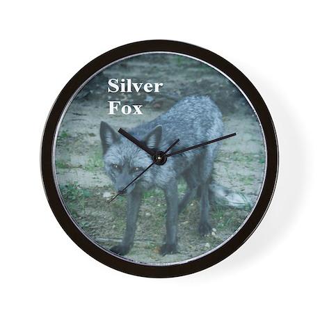 Silver Fox over 50 Wall Clock