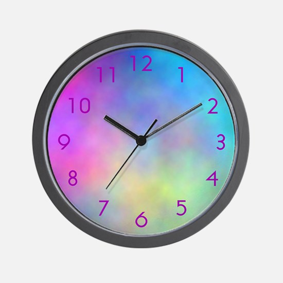 "Cool Clocks ""Tye Dye Dyed"" Wall Clock"