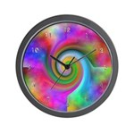 Cosmic Wave Wall Clock