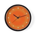Orange Dreamscicle Cool Clocks Wall Clock