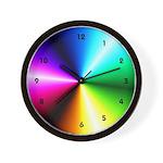 Rainbow Bridge Psychedelic Color Wheel Wall Clock