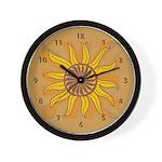 Sun Burst Wall Clock