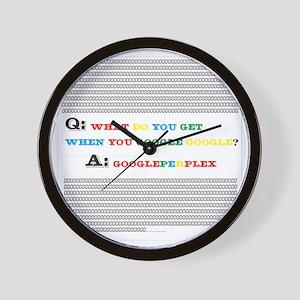 Google per Plex Wall Clock