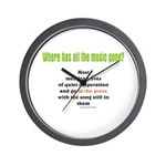 Where Has All the Music Gone? Wall Clock